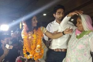 sports news asian games gold medal winner wrestler vinesh phogat got engaged