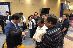 technology Arvind Kejriwal in Seoul Visits Cheonggyecheon stream
